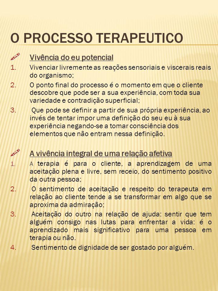 O PROCESSO TERAPEUTICO