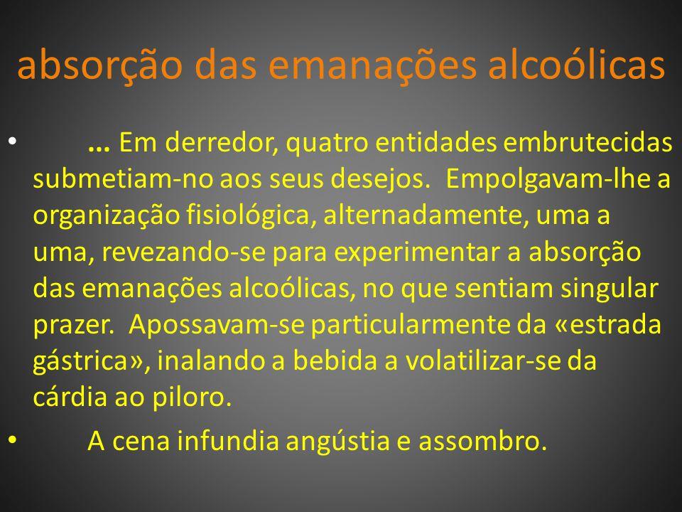 absorção das emanações alcoólicas