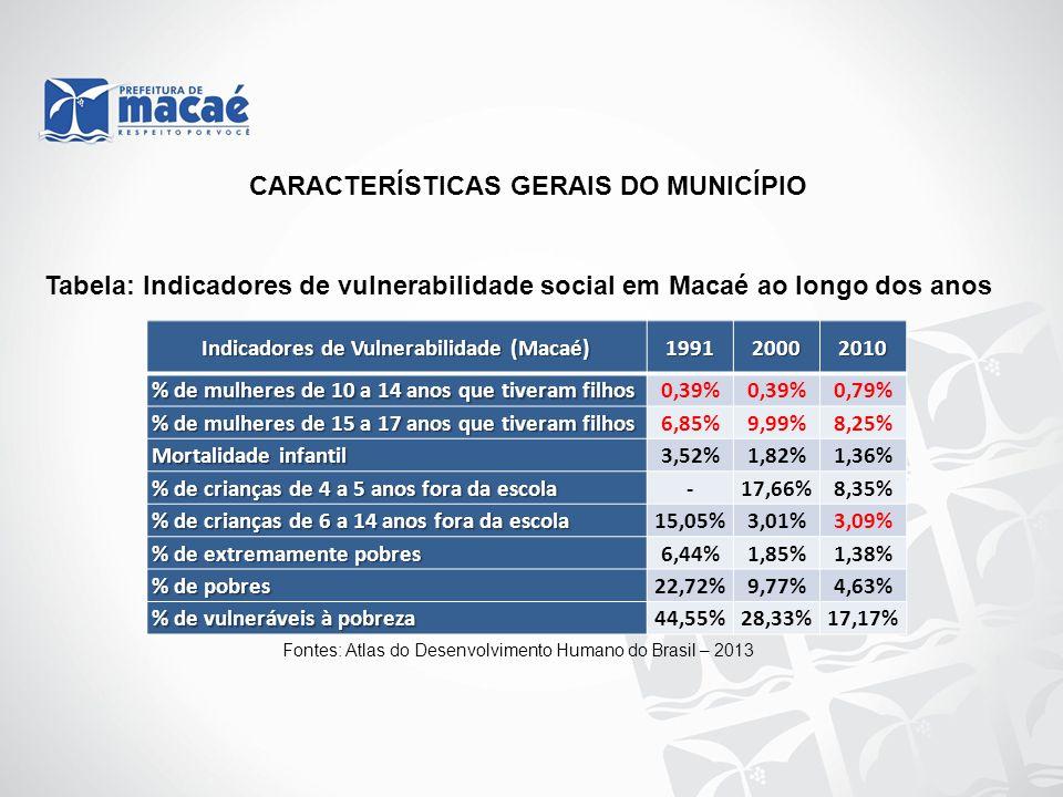 Indicadores de Vulnerabilidade (Macaé)