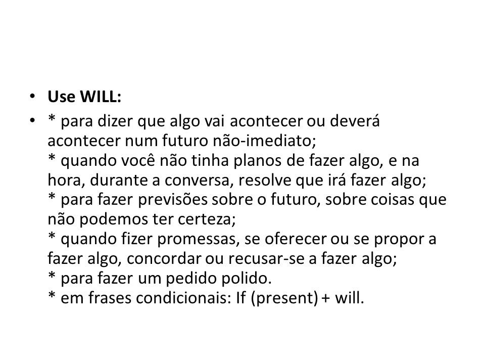 Use WILL: