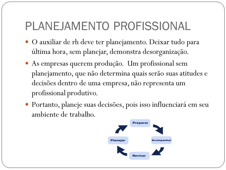 PLANEJAMENTO PROFISSIONAL