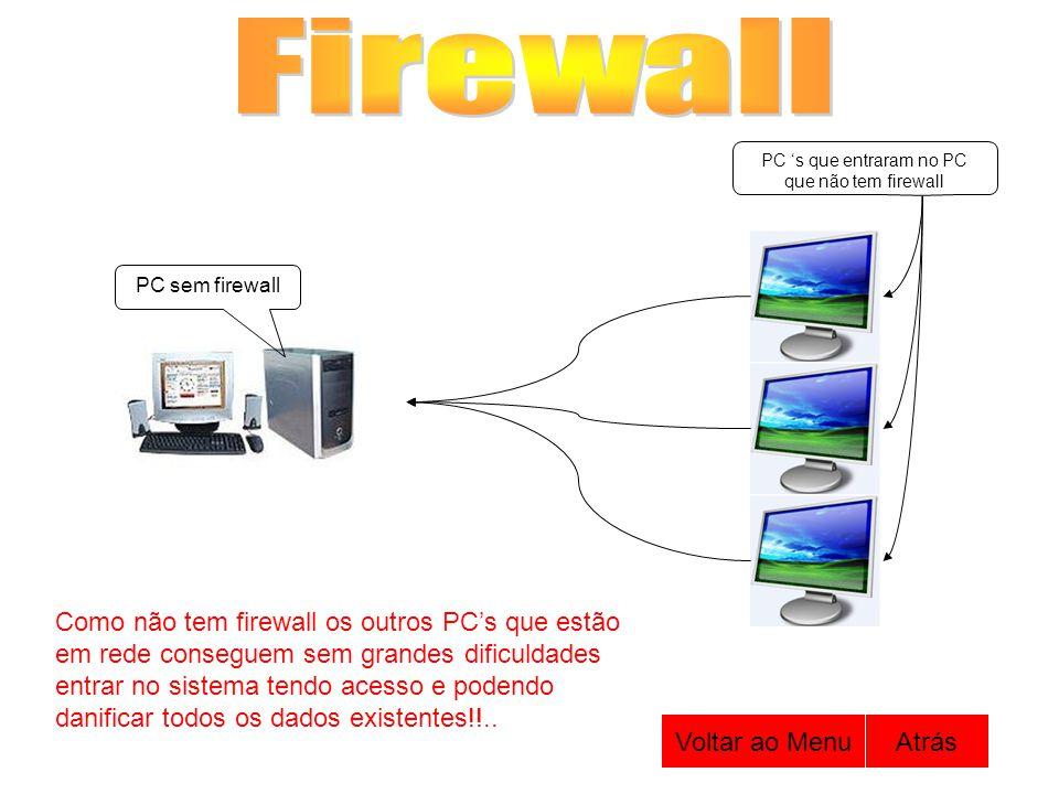 PC 's que entraram no PC que não tem firewall