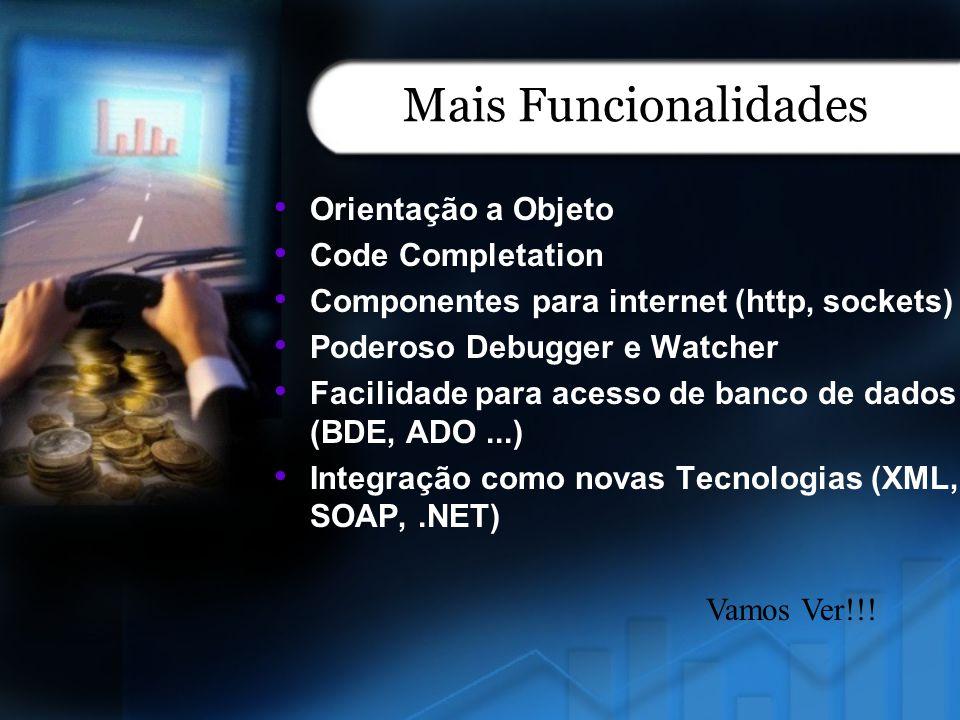Mais Funcionalidades Orientação a Objeto Code Completation