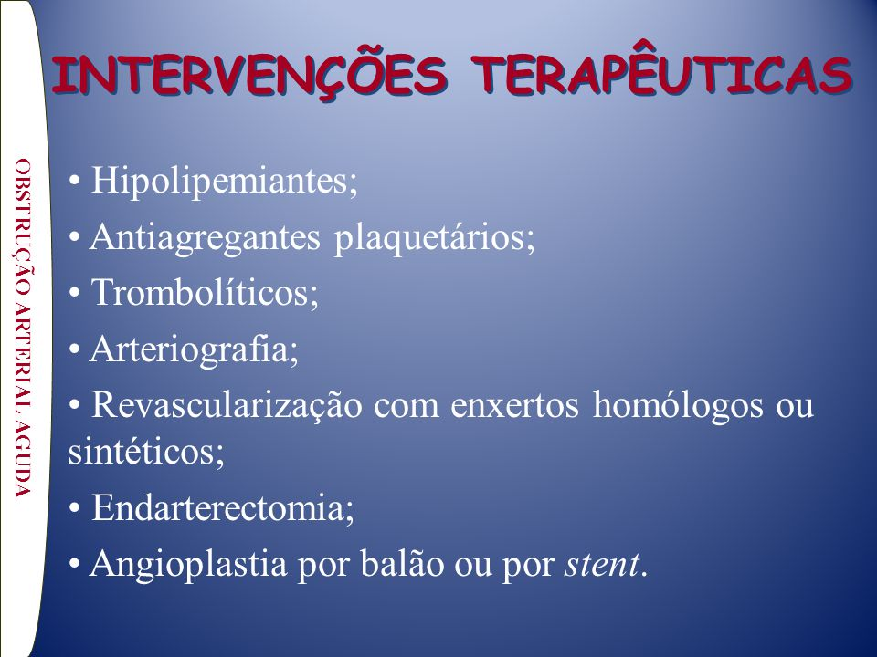 INTERVENÇÕES TERAPÊUTICAS