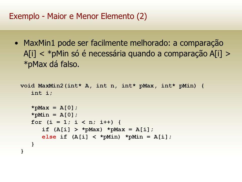 Exemplo - Maior e Menor Elemento (2)