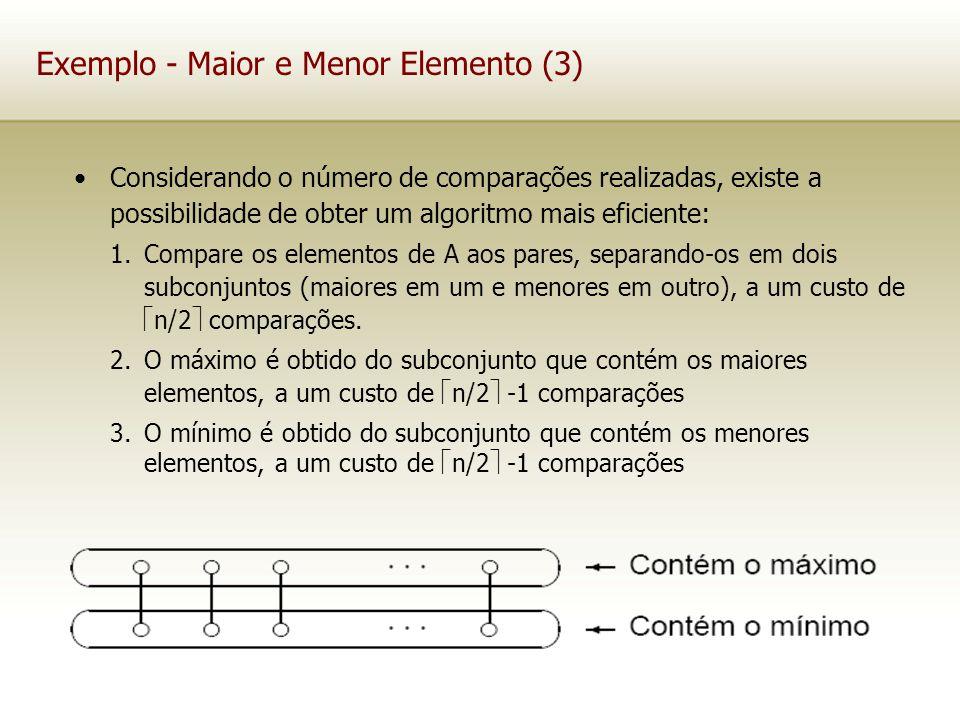 Exemplo - Maior e Menor Elemento (3)
