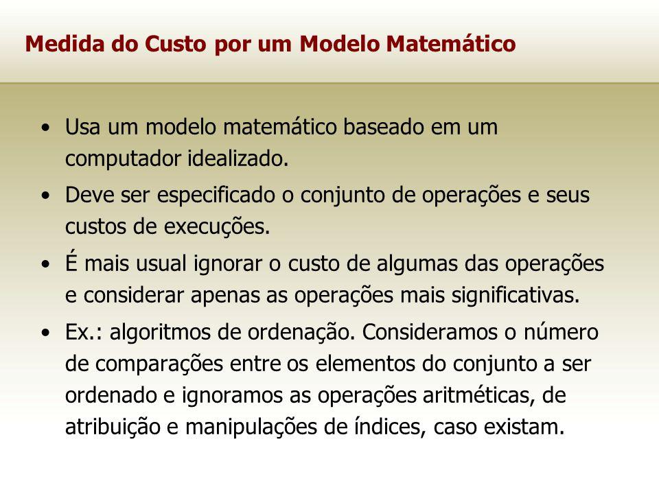 Medida do Custo por um Modelo Matemático