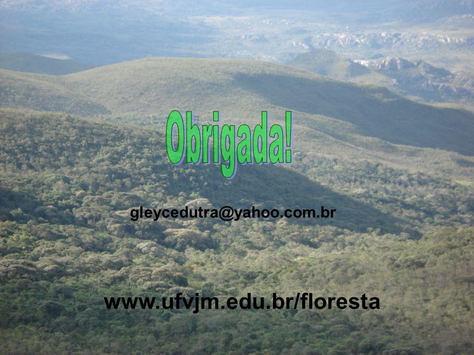 Obrigada! gleycedutra@yahoo.com.br www.ufvjm.edu.br/floresta