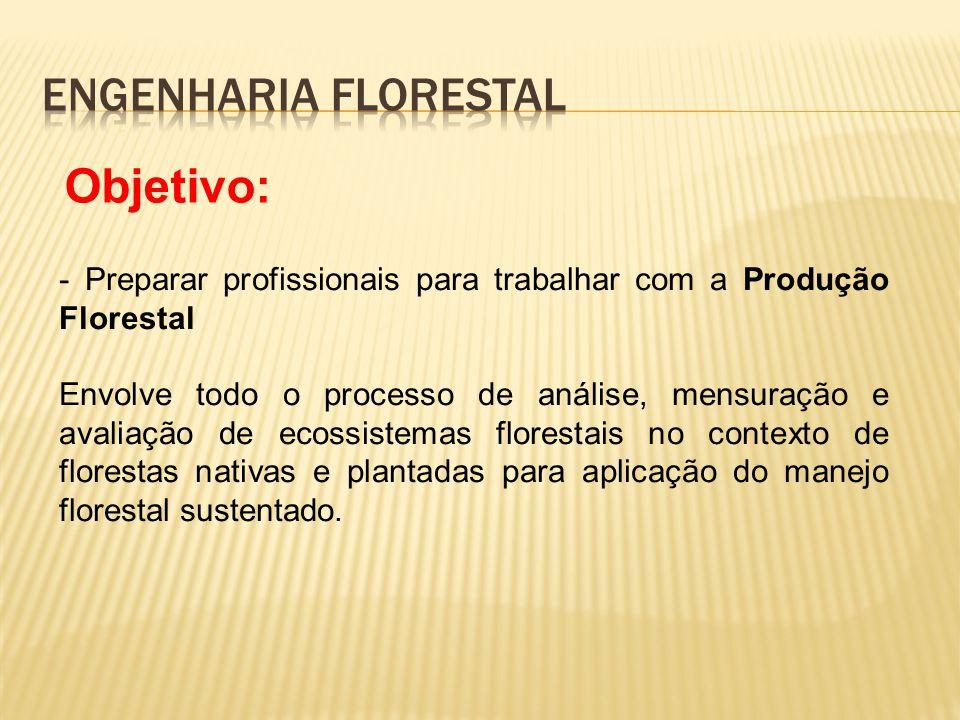 Engenharia Florestal Objetivo: