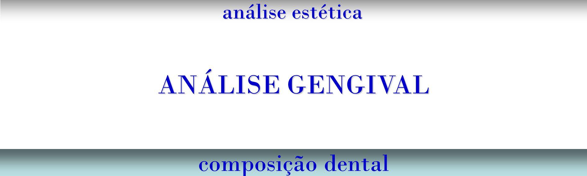 análise estética ANÁLISE GENGIVAL composição dental