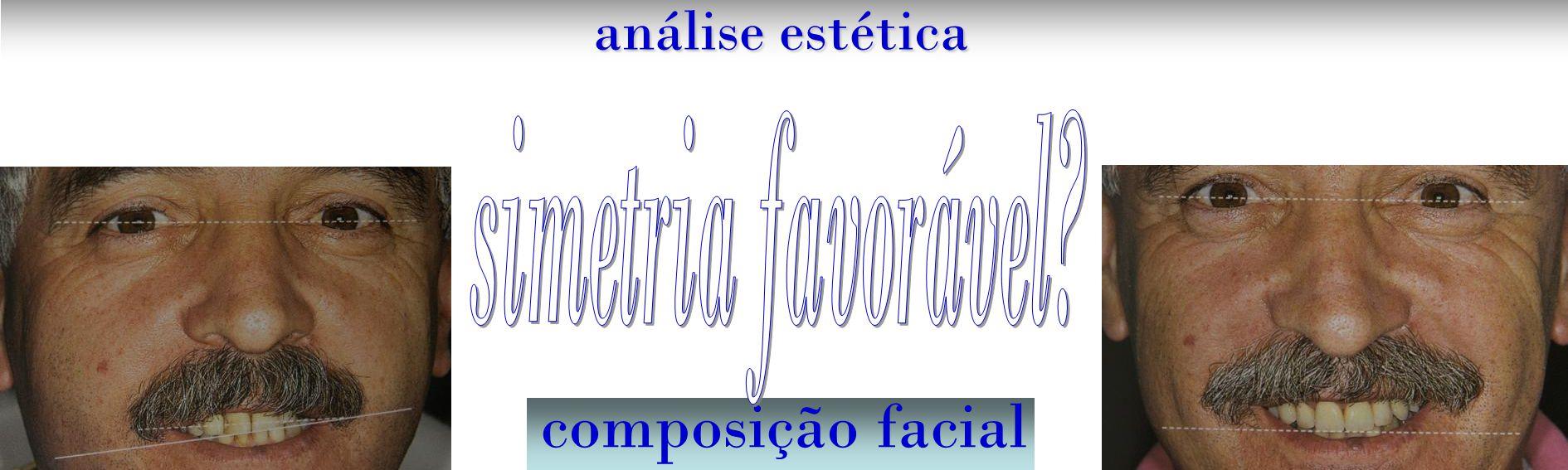 análise estética simetria favorável composição facial