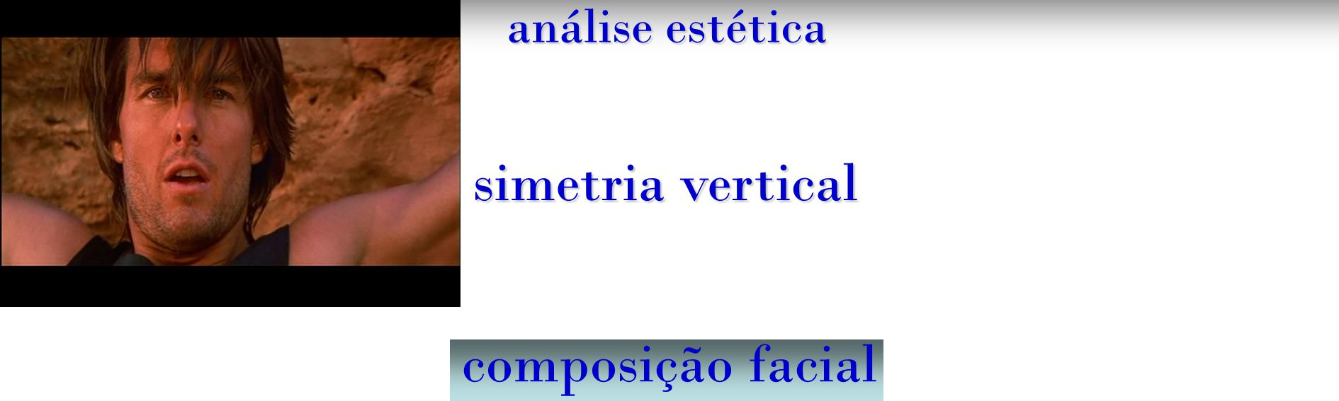 análise estética simetria vertical composição facial