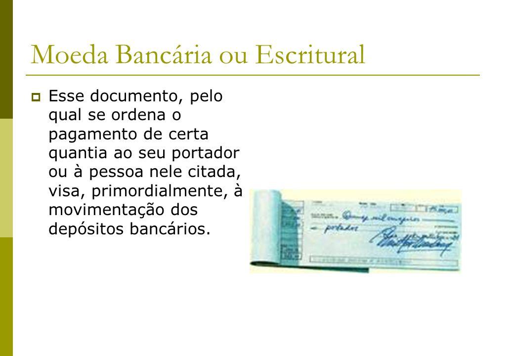Moeda Bancária ou Escritural