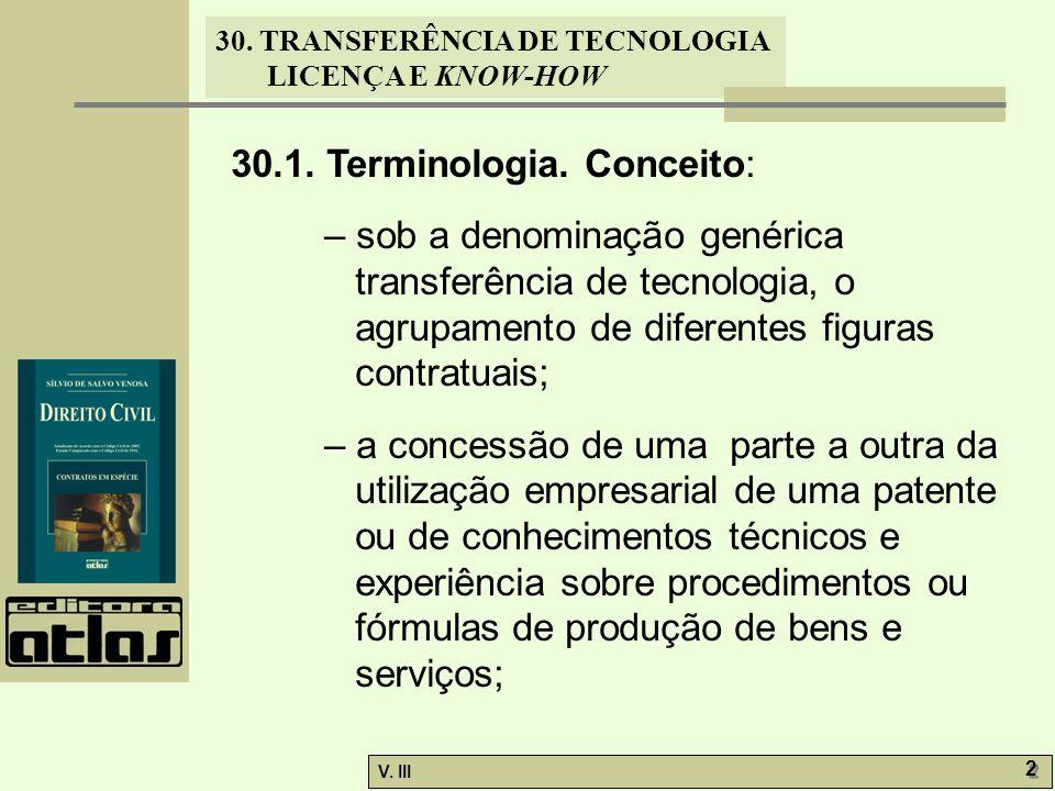 30.1. Terminologia. Conceito: