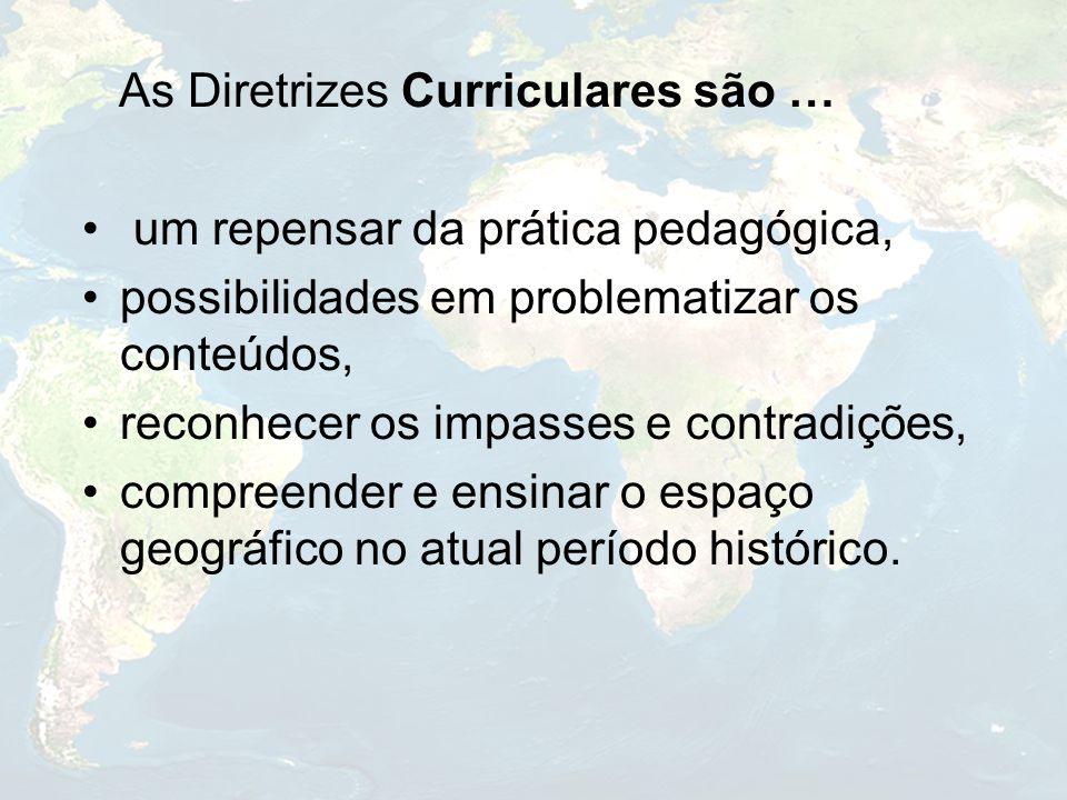 As Diretrizes Curriculares são … um repensar da prática pedagógica,