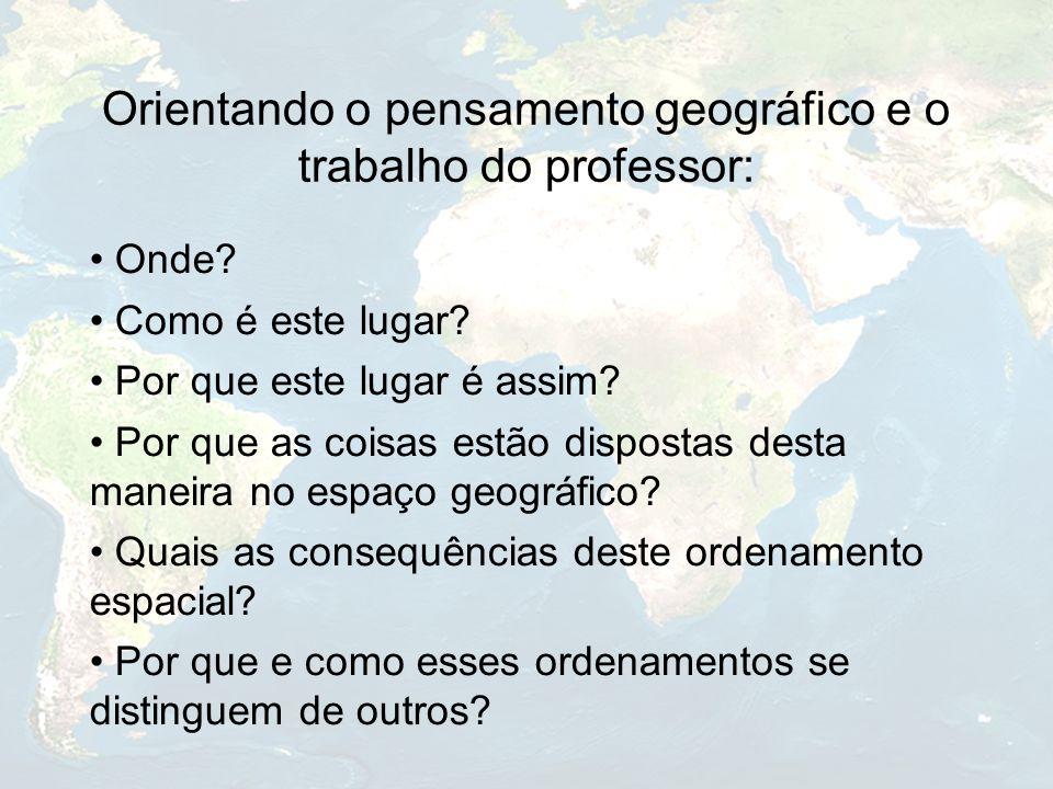 Orientando o pensamento geográfico e o trabalho do professor: