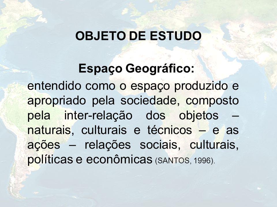 OBJETO DE ESTUDO Espaço Geográfico: