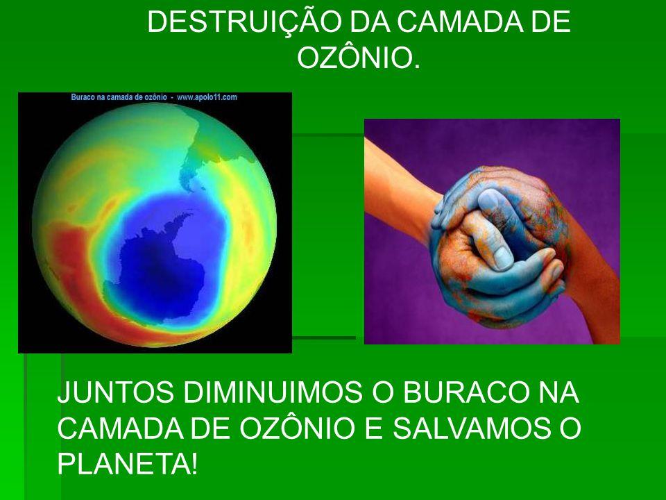 DESTRUIÇÃO DA CAMADA DE OZÔNIO.