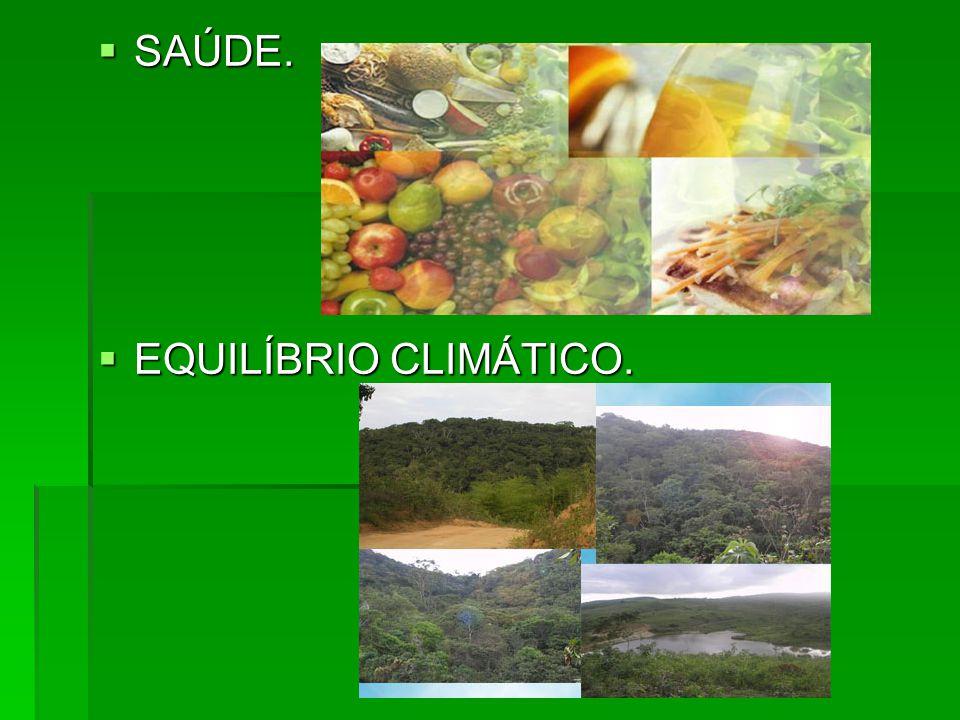 SAÚDE. EQUILÍBRIO CLIMÁTICO.