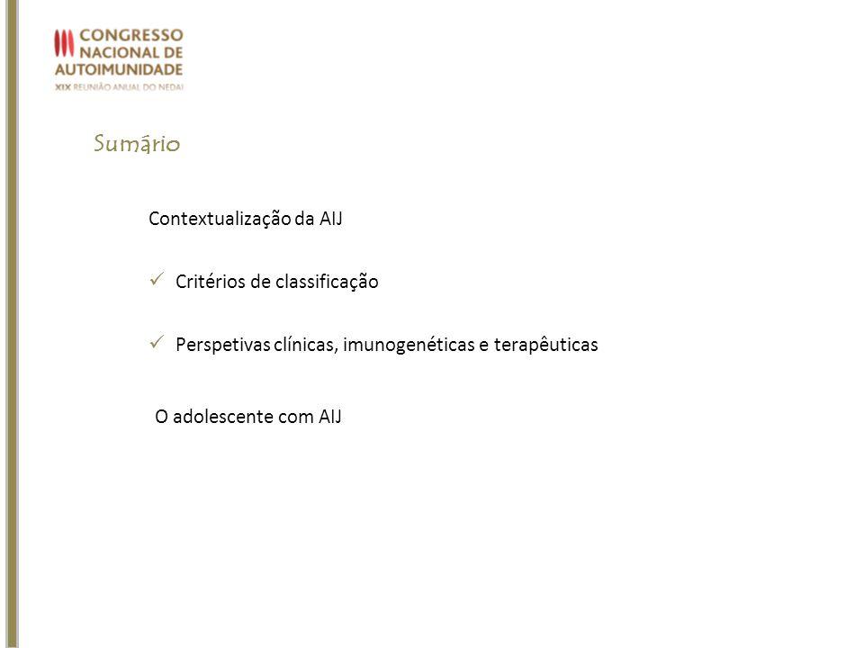 Sumário Contextualização da AIJ Critérios de classificação