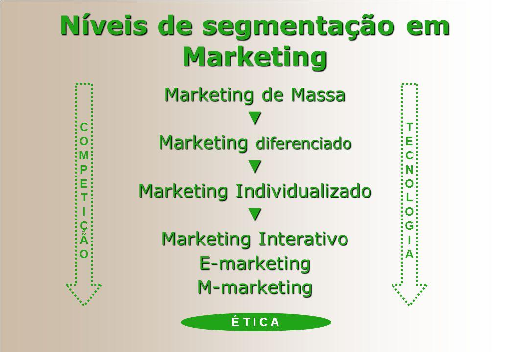 Níveis de segmentação em Marketing