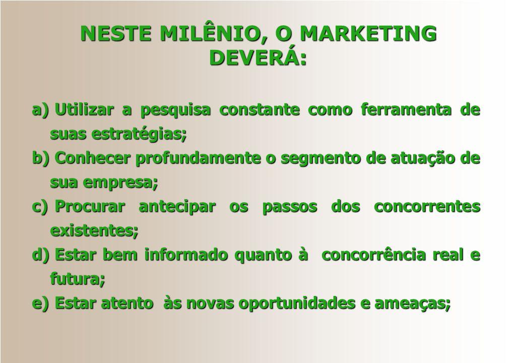 NESTE MILÊNIO, O MARKETING DEVERÁ:
