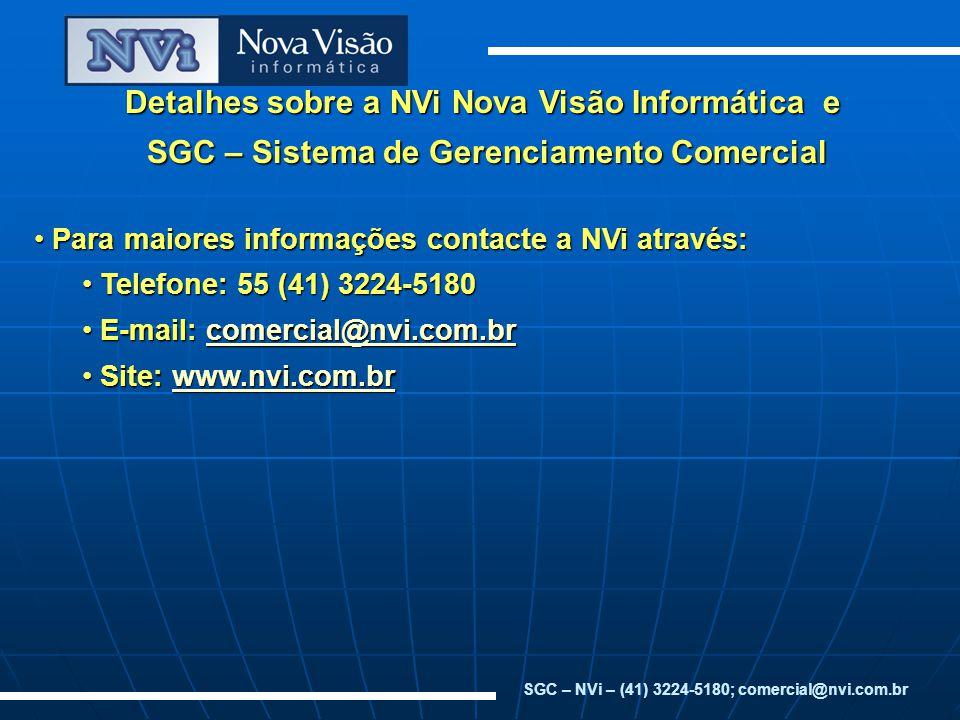 Detalhes sobre a NVi Nova Visão Informática e