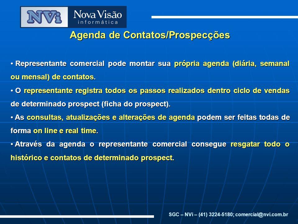 Agenda de Contatos/Prospecções
