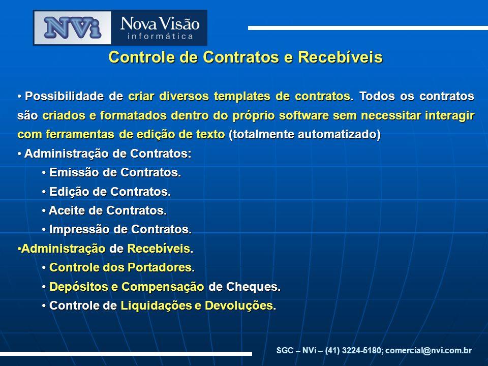 Controle de Contratos e Recebíveis
