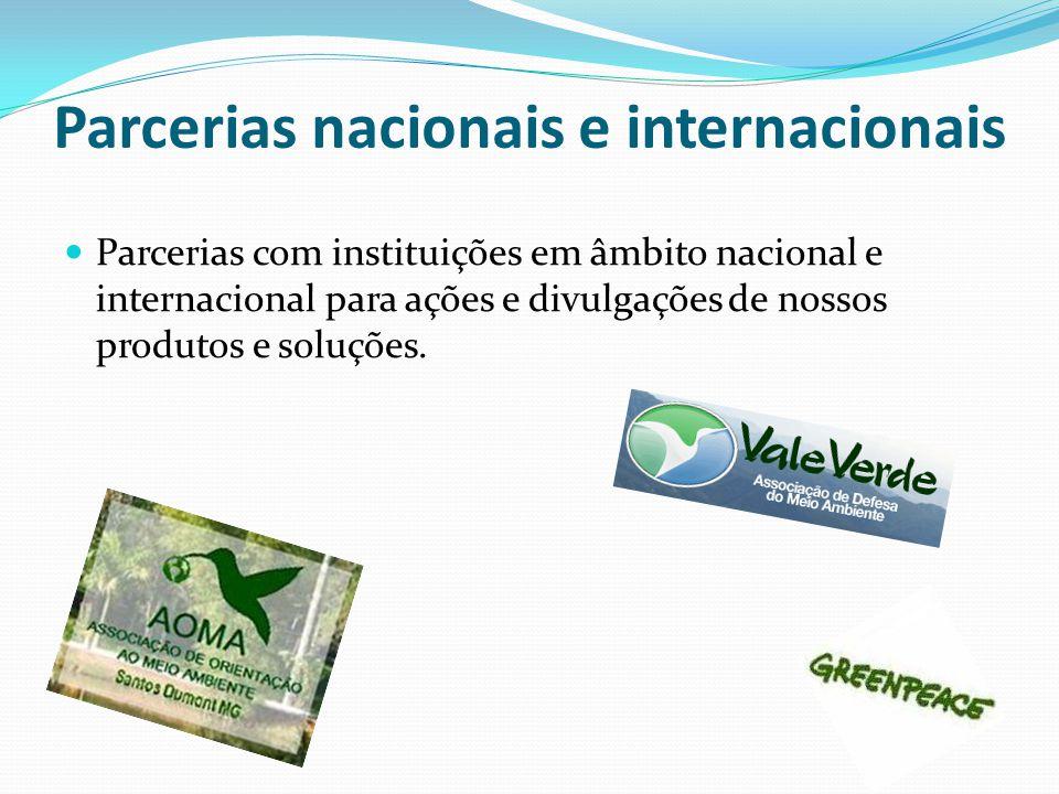 Parcerias nacionais e internacionais