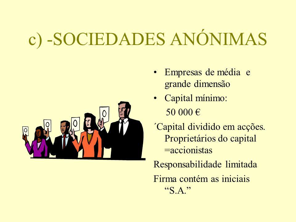 c) -SOCIEDADES ANÓNIMAS