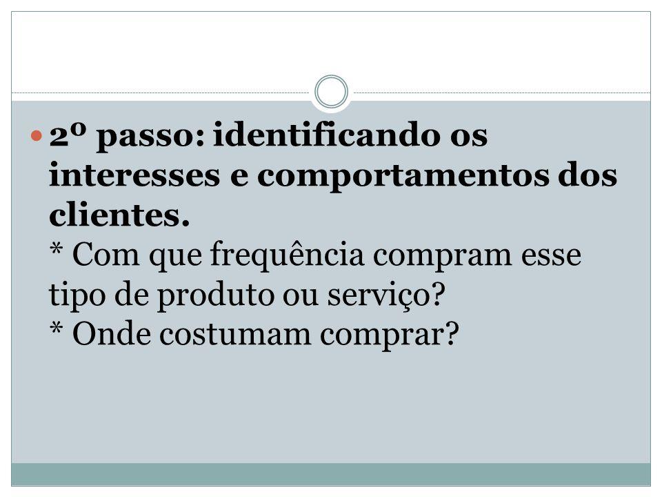 2º passo: identificando os interesses e comportamentos dos clientes