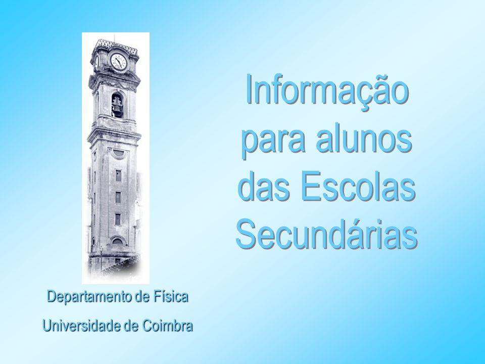 Informação para alunos das Escolas Secundárias