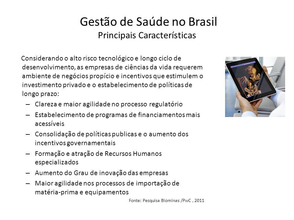 Gestão de Saúde no Brasil Principais Características