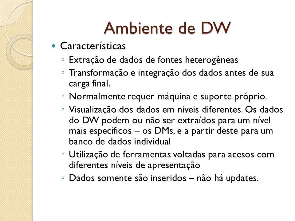 Ambiente de DW Características