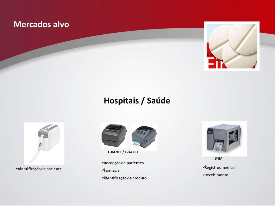 Mercados alvo Hospitais / Saúde GK420T / GX420T S4M