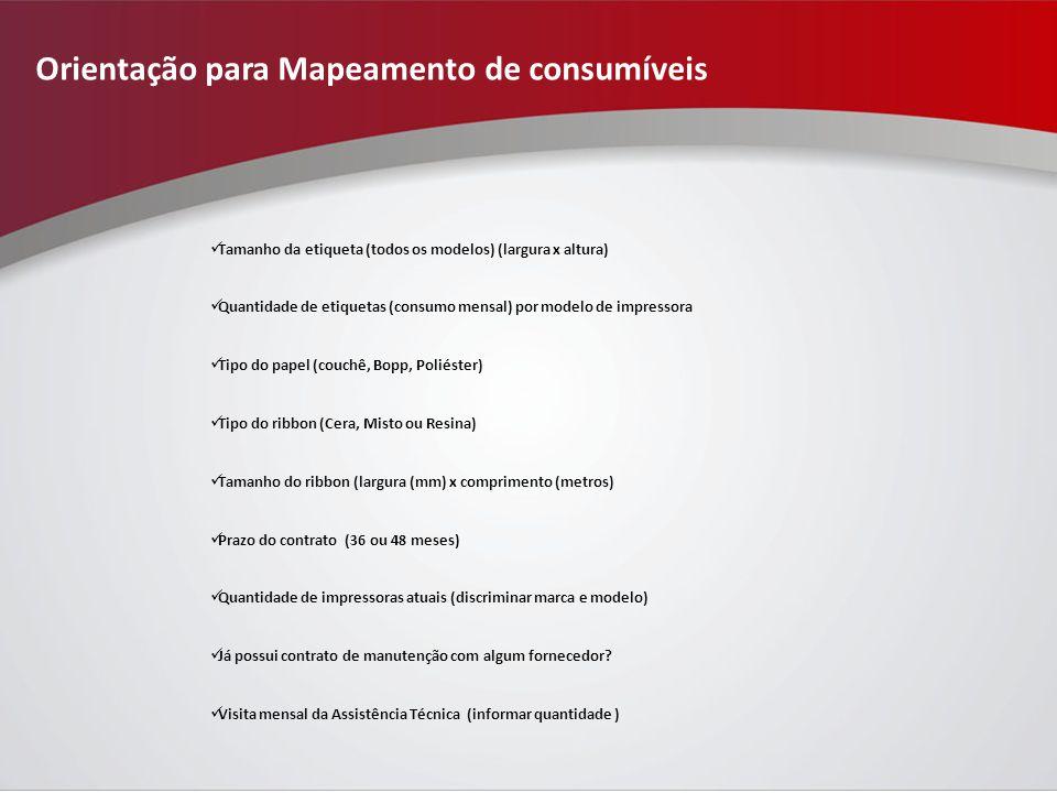 Orientação para Mapeamento de consumíveis