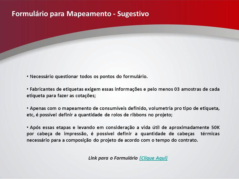 Formulário para Mapeamento - Sugestivo