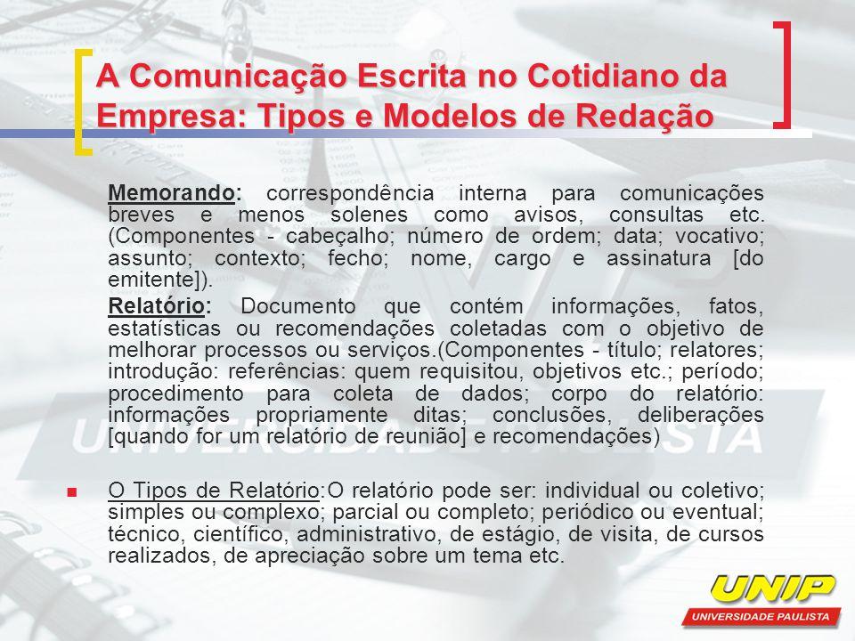 A Comunicação Escrita no Cotidiano da Empresa: Tipos e Modelos de Redação