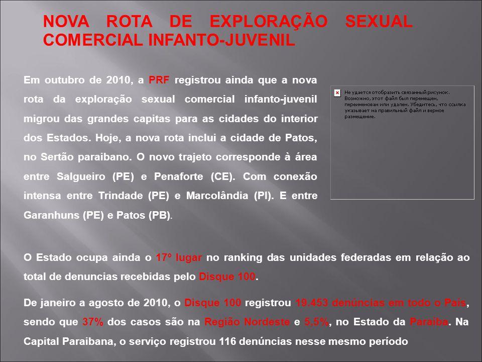 NOVA ROTA DE EXPLORAÇÃO SEXUAL COMERCIAL INFANTO-JUVENIL