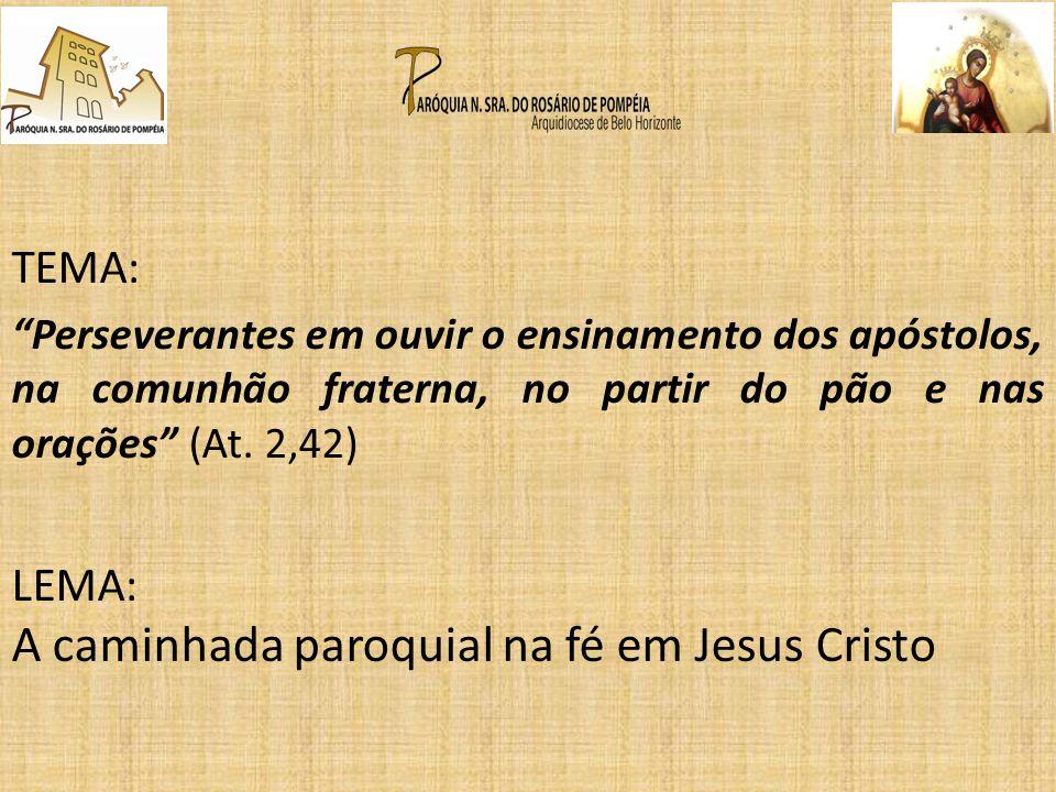 A caminhada paroquial na fé em Jesus Cristo
