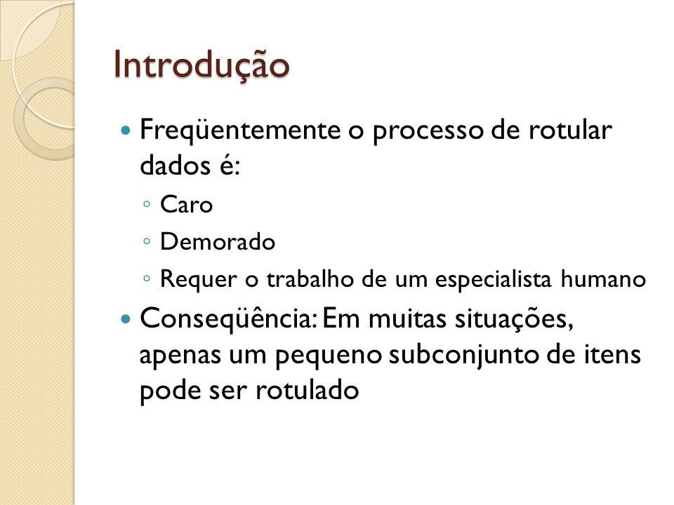 Introdução Freqüentemente o processo de rotular dados é: