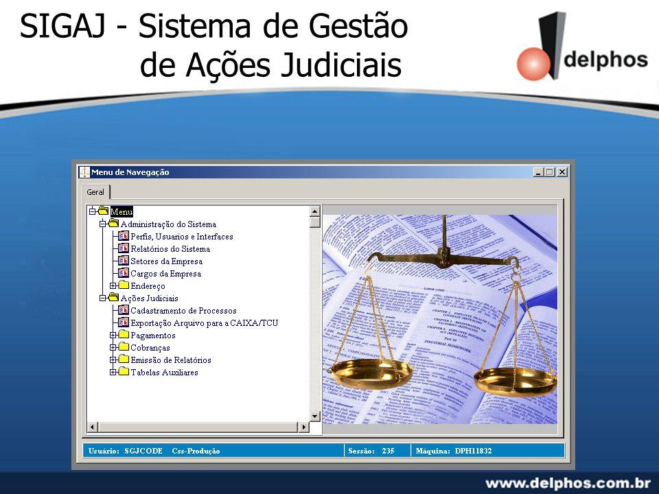 SIGAJ - Sistema de Gestão de Ações Judiciais