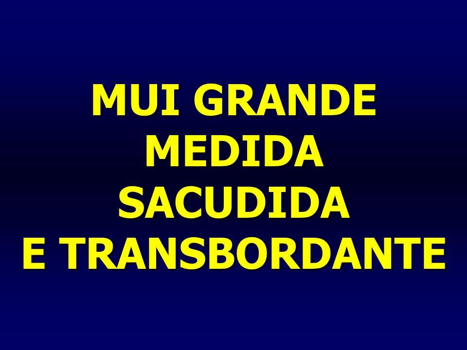 MUI GRANDE MEDIDA SACUDIDA E TRANSBORDANTE