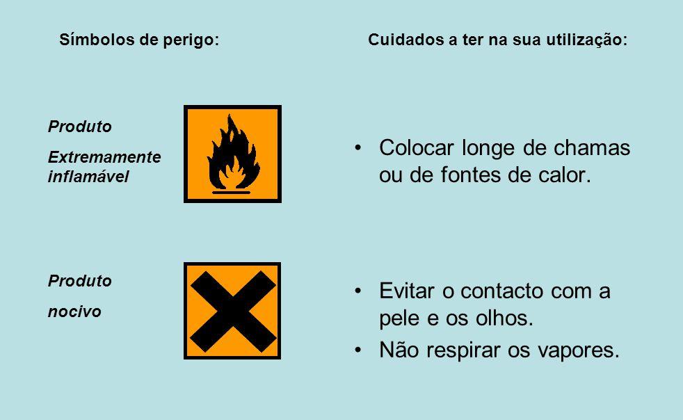 Colocar longe de chamas ou de fontes de calor.