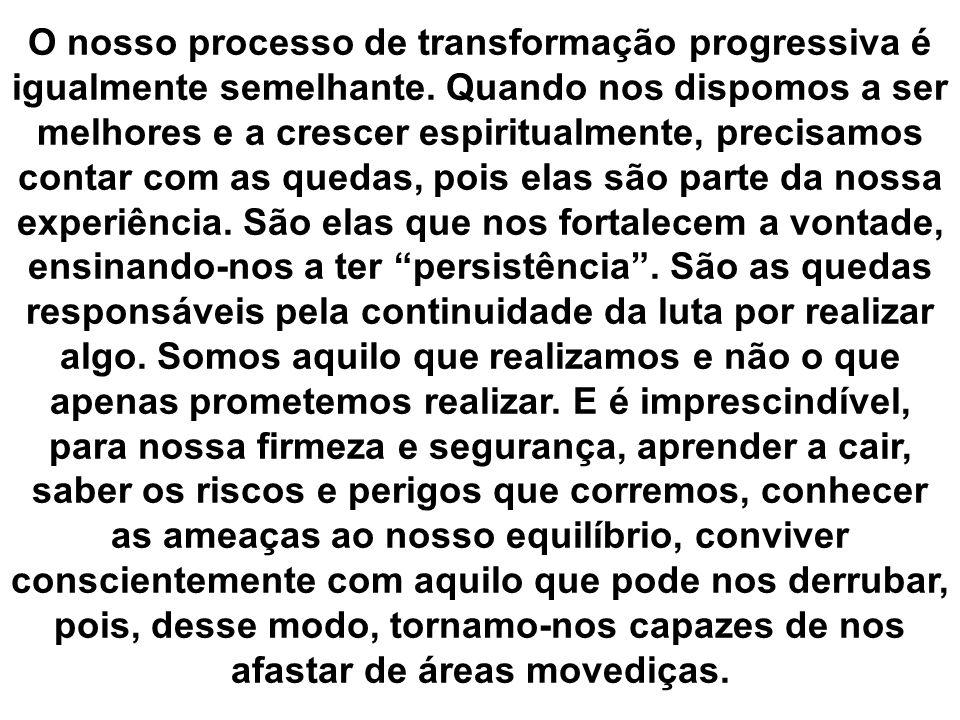 O nosso processo de transformação progressiva é igualmente semelhante