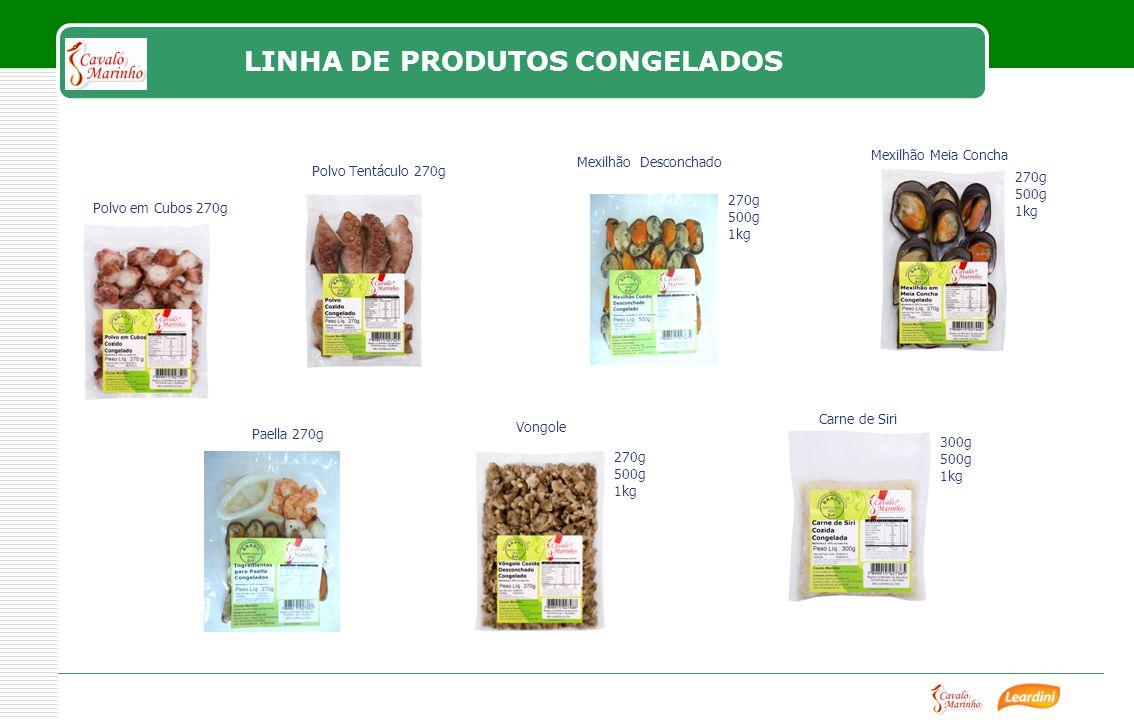LINHA DE PRODUTOS CONGELADOS