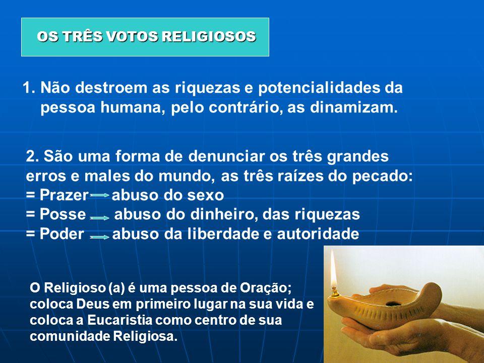 OS TRÊS VOTOS RELIGIOSOS