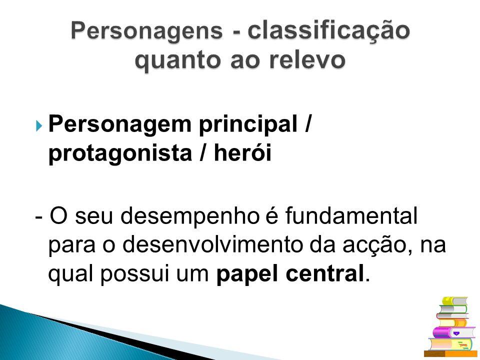 Personagens - classificação quanto ao relevo