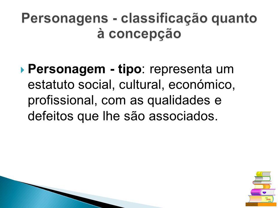 Personagens - classificação quanto à concepção